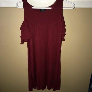 Dresses & Skirts - maroon T-shirt dress